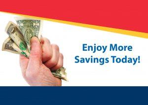 Enjoy more savings