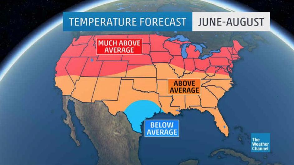 June August Temperature Forecast