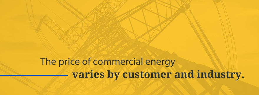 the price of commercial energy varies by customer and industry - graphic