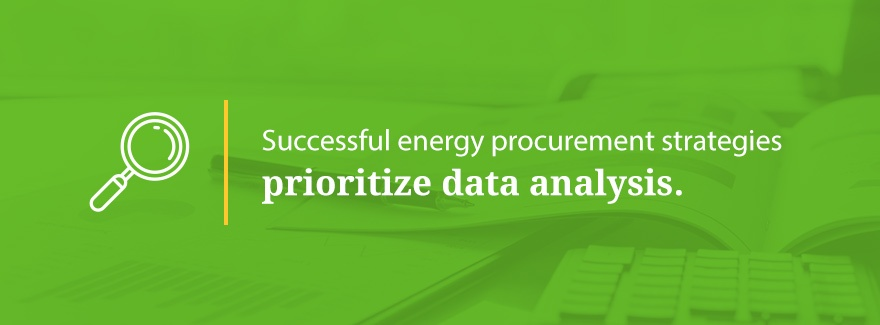 data analysis for energy procurement strategies graphic