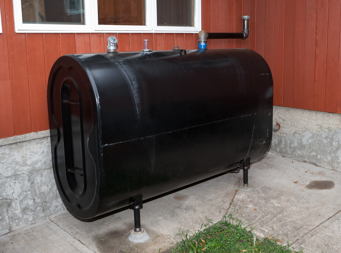 Home heating oil storage tank