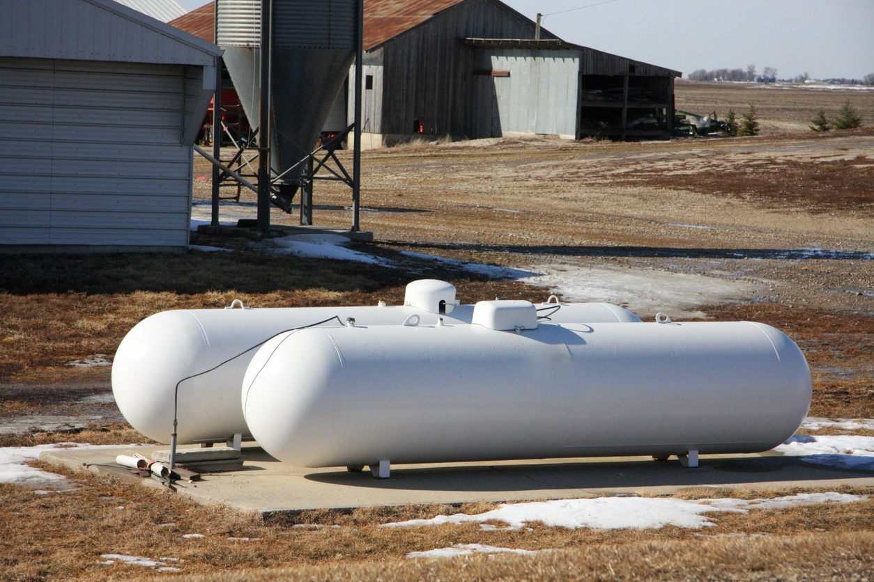 propane tanks on farm