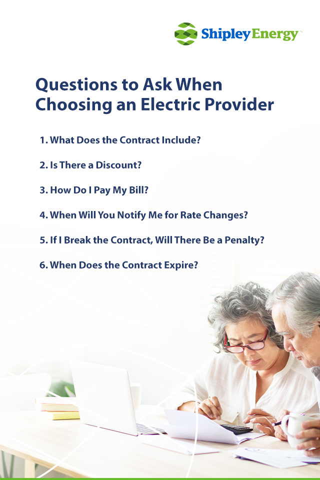 Questions to Ask When Choosing an Electric Provider