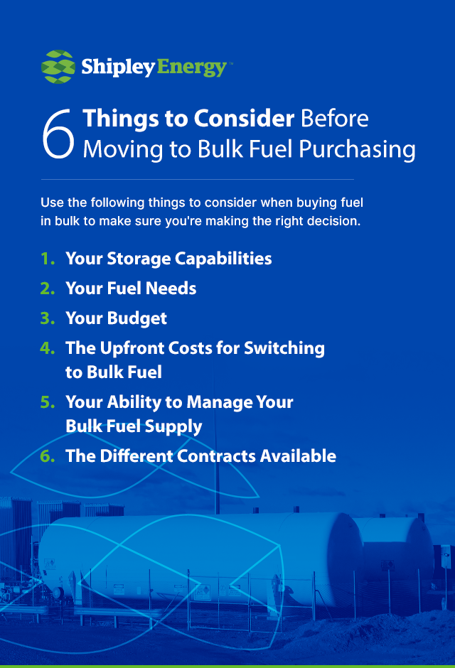 6 Things to Consider Before Moving to Bulk Fuel Purchasing