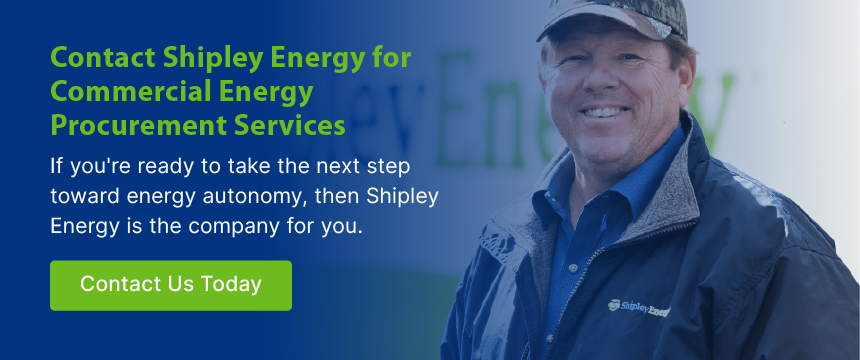 Contact Shipley Energy for Commercial Energy Procurement Services